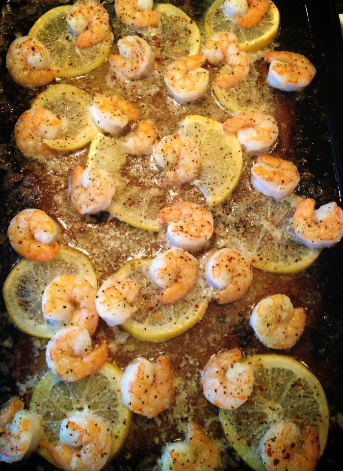 Baked Italian Lemon Butter Shrimp