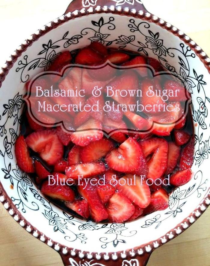 Balsamic Brown Sugar Strawberries