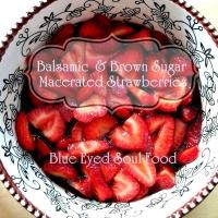Balsamic & Brown Sugar Strawberries