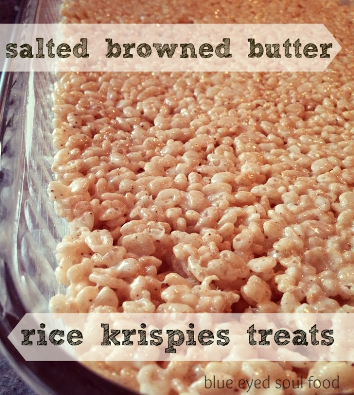 Buttery, nutty & a little salty. These are not your average rice krispies treats!