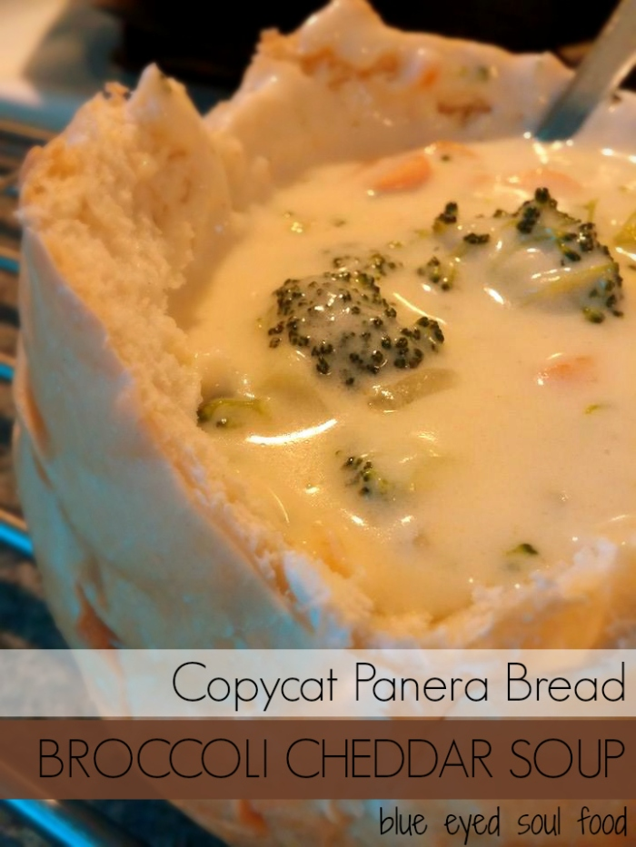 Panera Bread Copycat Broccoli Cheddar Soup Recipe