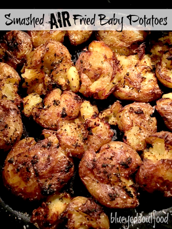Smashed Air Fried Baby Potatoes
